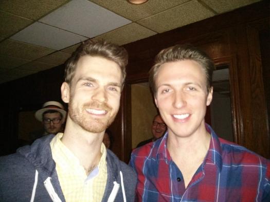 Graham & Jamie at Rails Pub Night